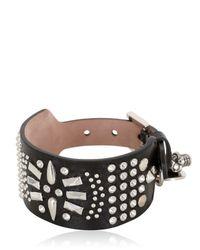 Alexander McQueen | Black Studded Leather Bracelet | Lyst