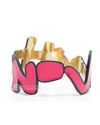 Louis Vuitton - Metallic Pre-owned: Stephen Sprouse Enamel Gold Graffiti Bracelet - Lyst