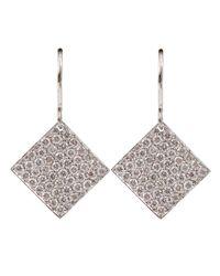 Irene Neuwirth | Metallic Small Diamond Shaped Earrings | Lyst