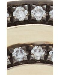 Noor Fares Gray Black Gold And Diamond Tilsam Eternity Step Ring