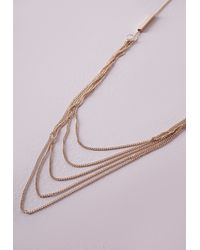 Missguided | Metallic Multi Chain Longline Necklace | Lyst