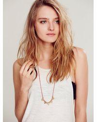 Free People - Metallic Triangle Tassel Necklace - Lyst