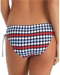 Splendid | Blue Side Tie Bikini Bottom | Lyst