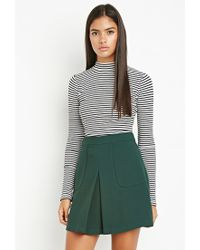 Forever 21 | Green Contemporary Paneled Crepe Skirt | Lyst