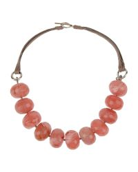 Brunello Cucinelli - Pink Necklace - Lyst