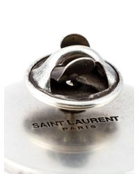 Saint Laurent | Red 'eighties' Pin | Lyst