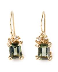 Ruth Tomlinson - Green Tourmaline Drop Earrings - Lyst