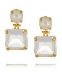 Lele Sadoughi | White Solar Goldplated Faux Pearl and Crystal Earrings | Lyst