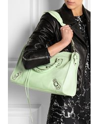 Balenciaga - Green City Classic Metal Edge Textured-Leather Tote - Lyst