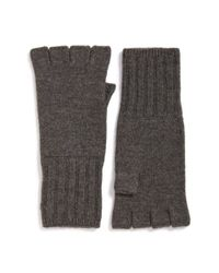 John Varvatos | Brown Fingerless Wool Gloves for Men | Lyst