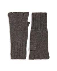 John Varvatos - Brown Fingerless Wool Gloves for Men - Lyst