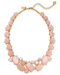 kate spade new york | Pink 12K Gold-Plated Color Pop All-Around Necklace | Lyst