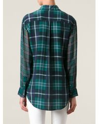 Equipment - Green Checked Shirt - Lyst