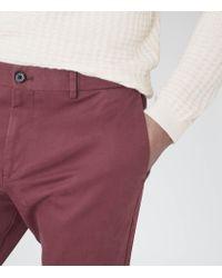 Reiss - Pink Bennett Straight Leg Chinos for Men - Lyst