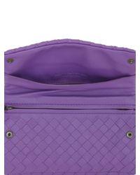 Bottega Veneta - Purple Small Intrecciato Nappa Leather Bag - Lyst