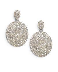 Bavna | Metallic 4.31 Tcw Diamond & Sterling Silver Drop Earrings | Lyst