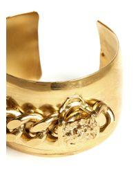 Ela Stone | Metallic Lionnie Chain Embellished Adjustable Cuff | Lyst