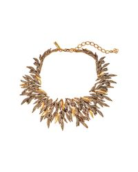 Oscar de la Renta | Metallic Pave Spike Necklace | Lyst