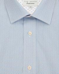 Ted Baker - Blue Fine Geo Print Shirt for Men - Lyst