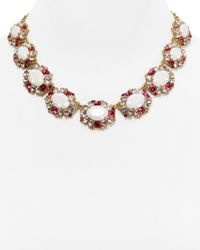 Kate Spade | Pink Garden Bed Gems Collar Necklace, 17"