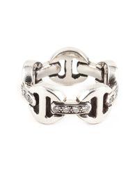 Hoorsenbuhs | Metallic Tri-link Diamond Ring | Lyst