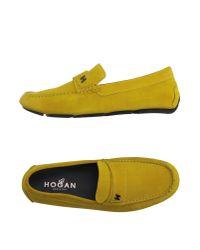 Hogan | Yellow Moccasins for Men | Lyst