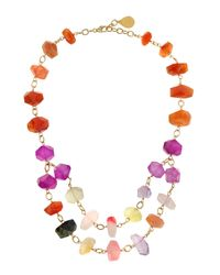 Devon Leigh - Multicolor Rocky Crystal Two-strand Necklace - Lyst