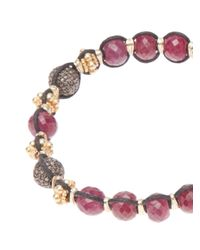 Stones Of Character - Red Woven Macramã Bracelet for Men - Lyst