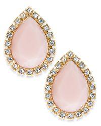 kate spade new york - Gold-Tone Pink Balloon Stud Earrings - Lyst