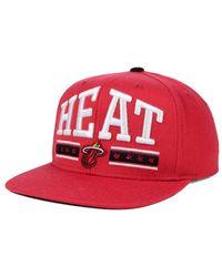 0dde9fb69b2 Lyst - Sports Licensed Division Adidas Miami Heat Stars Snapback Cap ...