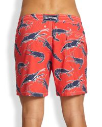 Vilebrequin | Red Moorea Crayfish Swim Trunks for Men | Lyst