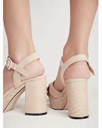 Free People - Natural Honeycomb Platform Heel - Lyst