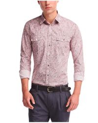 BOSS Orange | Red Slim-fit Cotton Shirt 'edaslime' for Men | Lyst