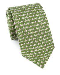 Ferragamo | Green Rooster Print Silk Tie for Men | Lyst