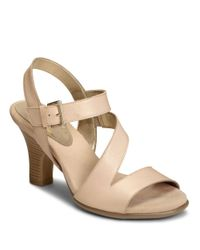 Aerosoles   Natural Try Out Leather Sandals   Lyst