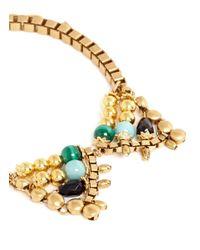 Ela Stone - Metallic Michelle Stone Collar Necklace - Lyst
