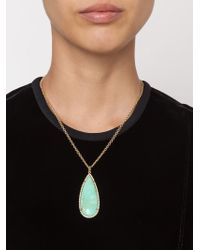 Irene Neuwirth | Multicolor 18kt Gold And Mint Chrysoprase Pendant | Lyst