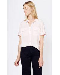 Equipment | Pink Short Sleeve Slim Signature | Lyst