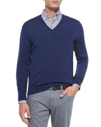 Ermenegildo Zegna - Blue High-performance Wool Sweater for Men - Lyst