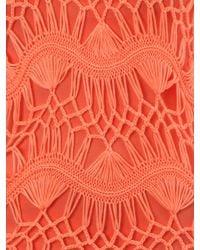 Jane Norman - Orange Crochet Jumper With Fringing Detail - Lyst