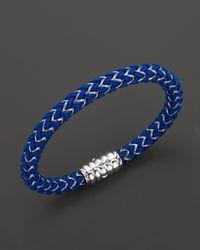 John Hardy - Men'S Bedeg Silver Bracelet On Blue Nylon Cord for Men - Lyst