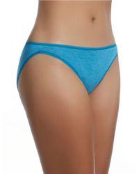 Felina | Blue Sublime High Cut Brief Panty | Lyst