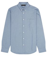 Jaeger | Blue Washed Oxford Shirt for Men | Lyst