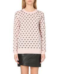 Markus Lupfer - Pink Natalie Printed Merino Wool Jumper - Lyst