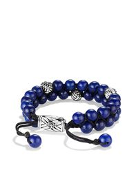 David Yurman | Metallic Spiritual Beads Two-row Bracelet With Lapis Lazuli for Men | Lyst
