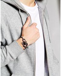 ASOS | Black Scorpion And Chain Bracelet for Men | Lyst