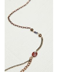 Free People - Red Womens Double Layer Rosary - Lyst