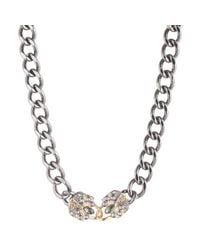 Alexis Bittar | Metallic Curb Chain Padlock Necklace | Lyst