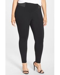Halogen | Black Seamed Leggings | Lyst