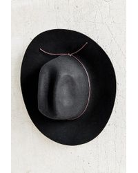 Urban Outfitters | Black Tie-back Wide Brim Hat | Lyst